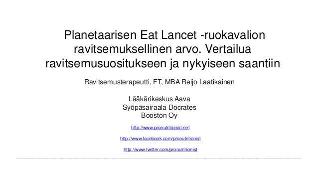 planetaarinen ruokavalio