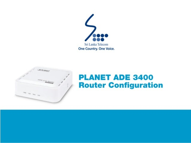 PLANET ADE3400 Router Configuration Guide