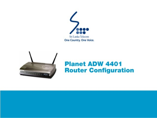 Planet ADW 4401 Router Configuration Guide