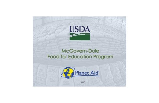 McGovern-DoleFood for Education Program2013