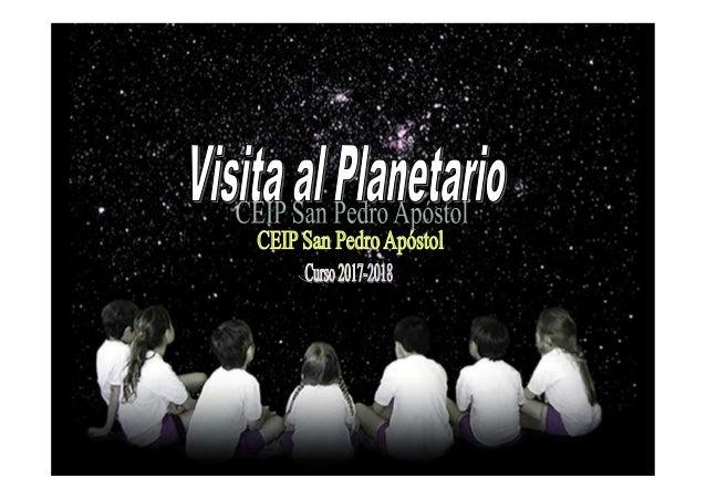 Planetario en el CEIP San Pedro Apóstol