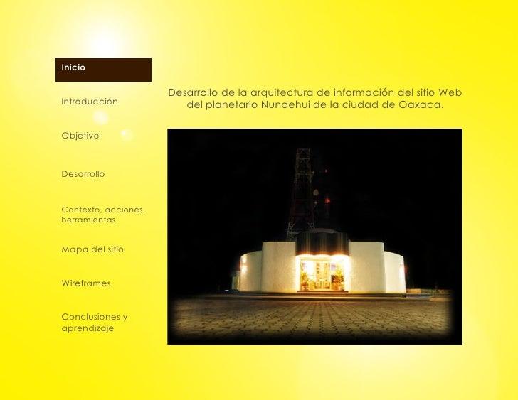 Desarrollo de la arquitectura de informaci n del sitio web Arquitectura de desarrollo