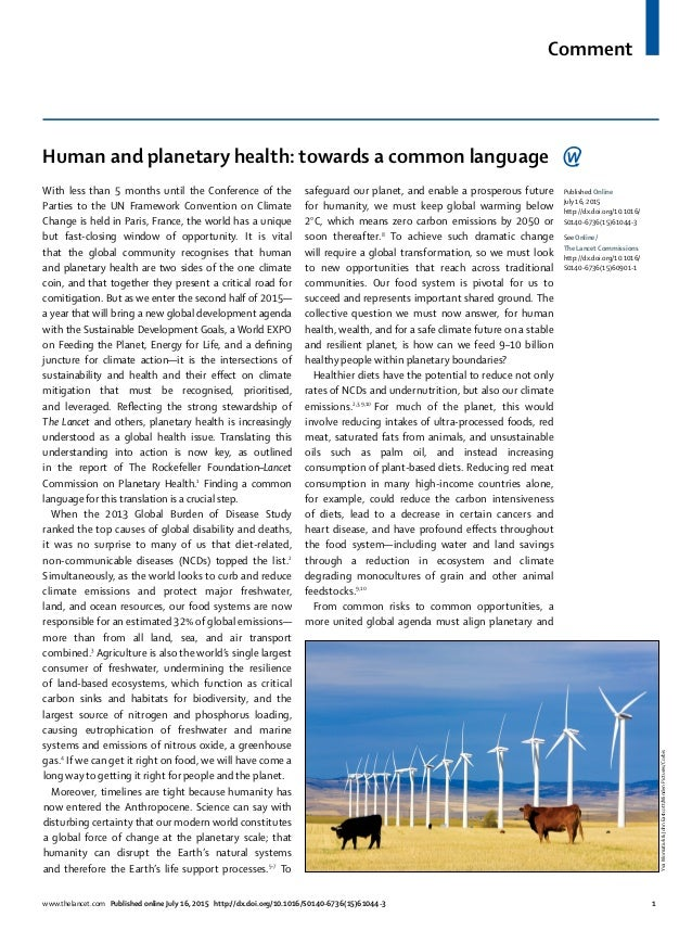 Comment www.thelancet.com Published online July 16, 2015 http://dx.doi.org/10.1016/S0140-6736(15)61044-3 1 Human and plane...