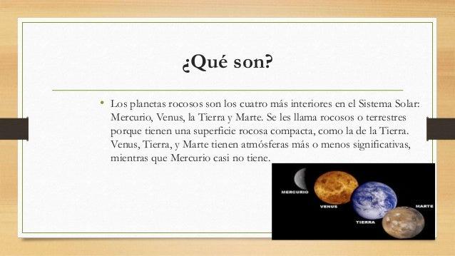Planetas exteriores y rocosos - Caracteristicas de los planetas interiores ...