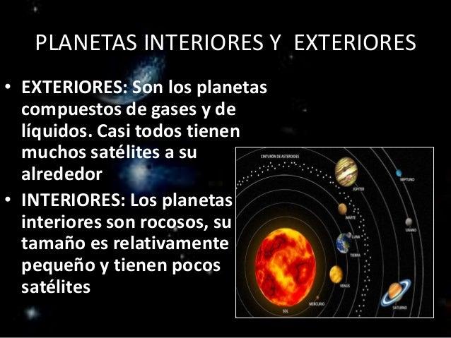 Planetas y planetoides - Caracteristicas de los planetas interiores ...
