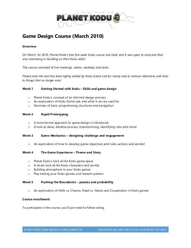 Planet Kodu Course - Free game design course