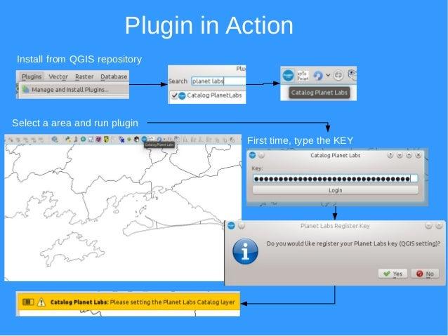 Catalog Planet Labs Plugin for QGIS