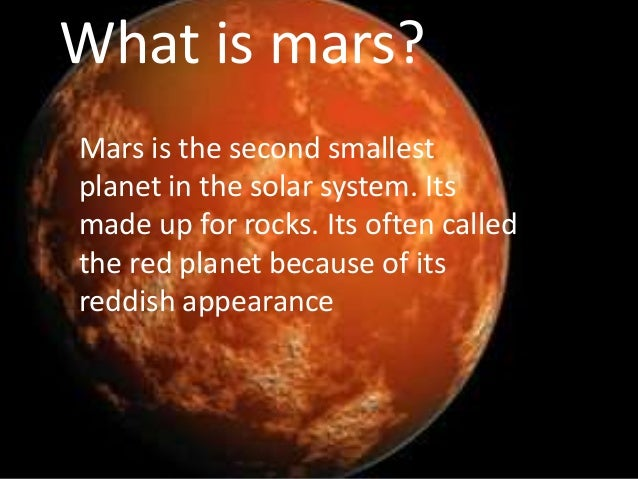an overview of mars a planet in the solar system Mars is the fourth planet from the sun and the second-smallest planet in the solar  system after mercury in english, mars carries a name of the roman god of.
