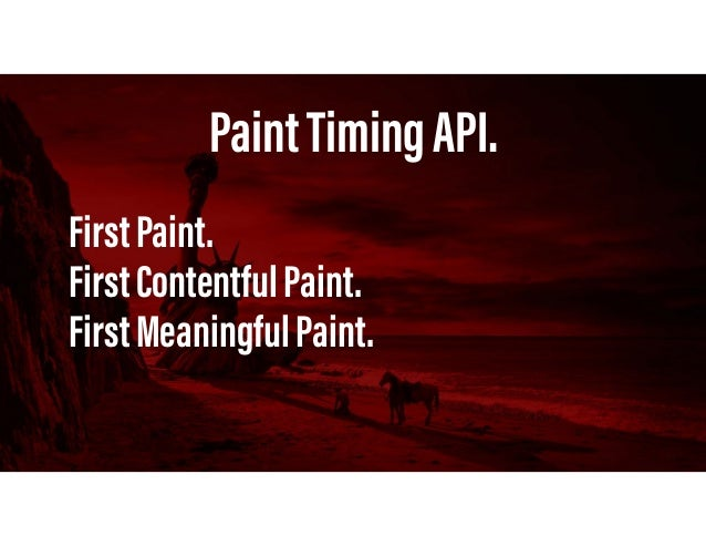 PaintTimingAPI. FirstContentfulPaint. FirstContentfulPaintreportsthetimewhenthebrowserfirst renderedanytext,image(includi...