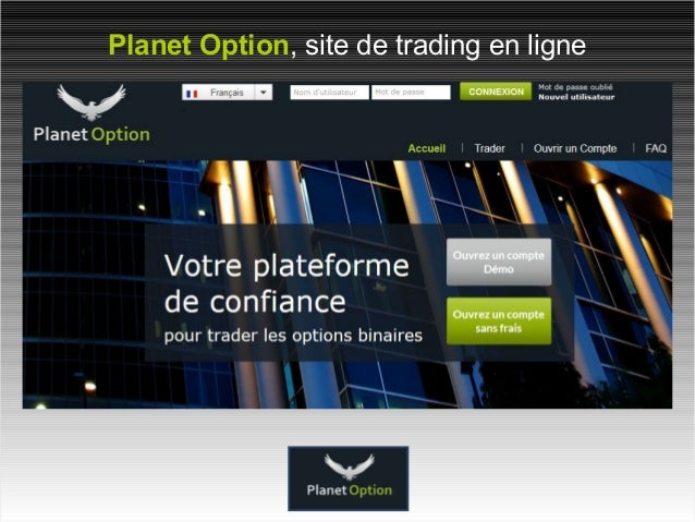 Planet Option, site de trading en ligne