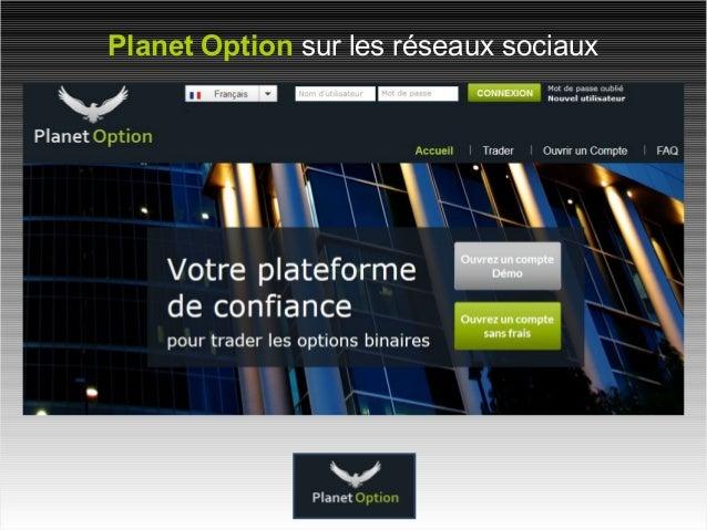 Planet Option sur les réseaux sociaux