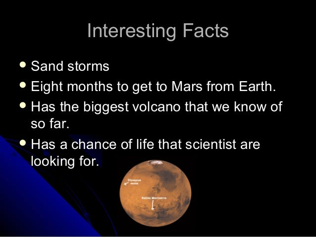 What are some interesting facts about Mars?