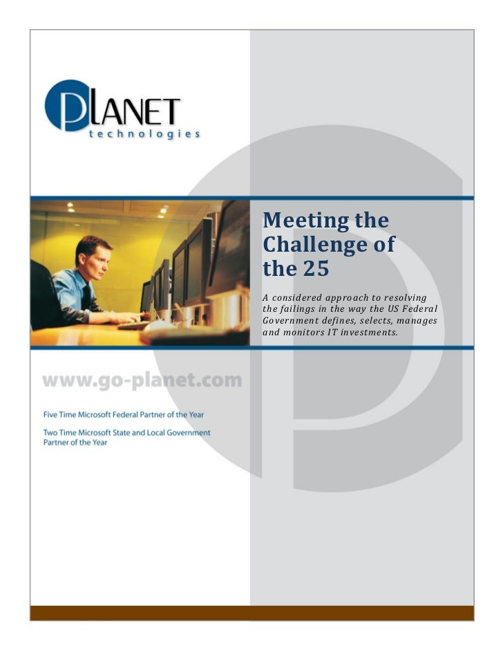 Meeting the                      Challenge of                      the 25                      A considered approach to re...