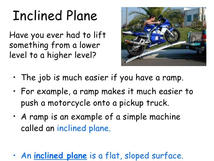 examples of inclined planes in everyday life www