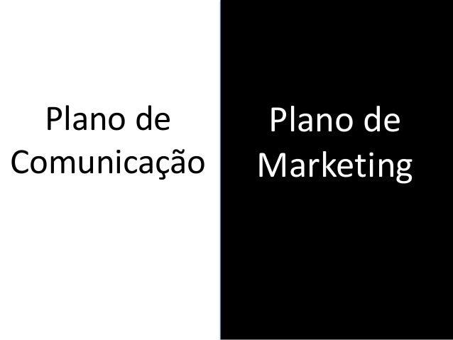Plano de Marketing Plano de Comunicação