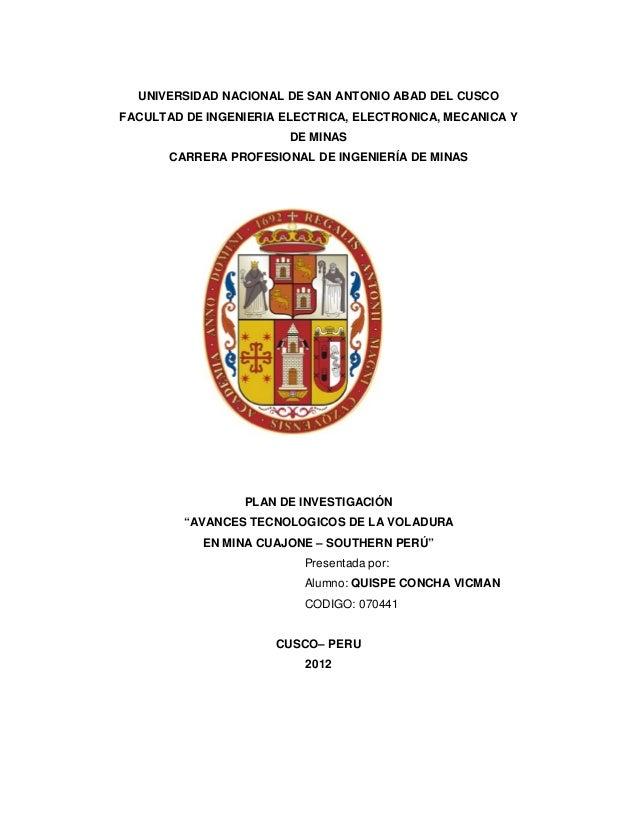 UNIVERSIDAD NACIONAL DE SAN ANTONIO ABAD DEL CUSCOFACULTAD DE INGENIERIA ELECTRICA, ELECTRONICA, MECANICA YDE MINASCARRERA...
