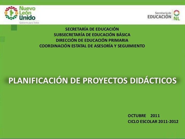 SECRETARÍA DE EDUCACIÓN           SUBSECRETARÍA DE EDUCACIÓN BÁSICA            DIRECCIÓN DE EDUCACIÓN PRIMARIA      COORDI...