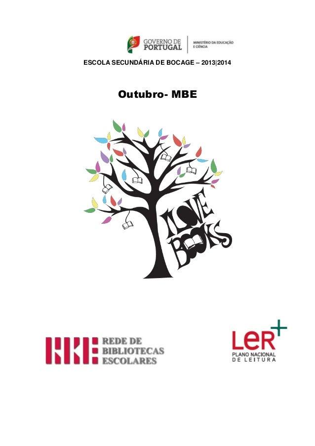 ESCOLA SECUNDÁRIA DE BOCAGE – 2013|2014 Outubro- MBE