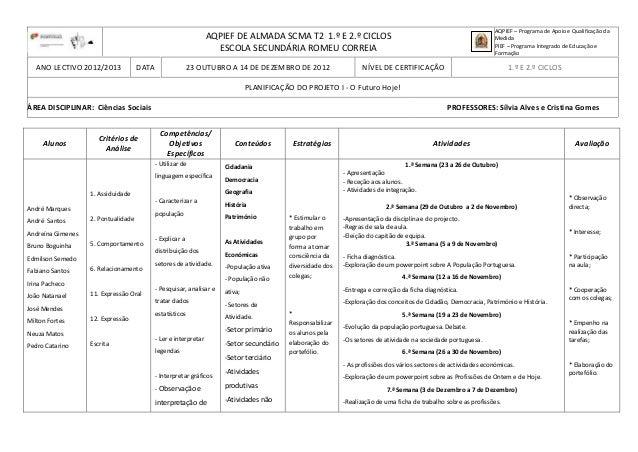 AQPIEF DE ALMADA SCMA T2 1.º E 2.º CICLOSESCOLA SECUNDÁRIA ROMEU CORREIAAQPIEF – Programa de Apoio e Qualificação daMedida...