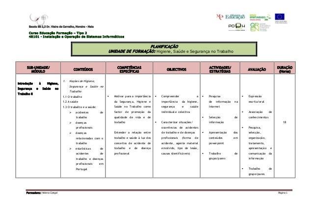 EscolaEB2,3Dr.VieiradeCarvalho,M oreiraMaia        CursoEducaçãoFormação–Tipo2        48101I nstalação...