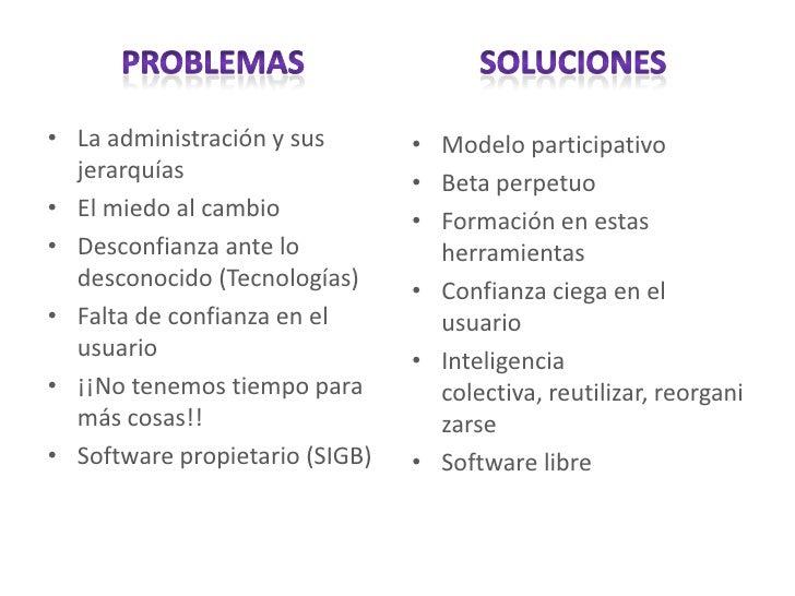 Planificación de herramientas de la web social en bibliotecas Slide 3