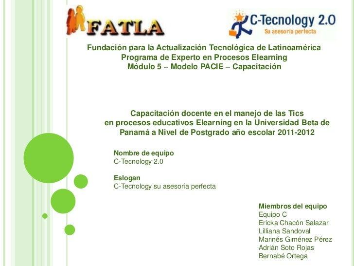 Fundación para la Actualización Tecnológica de Latinoamérica        Programa de Experto en Procesos Elearning         Módu...