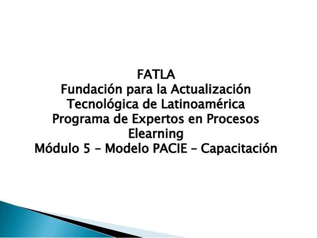 FATLA   Fundación para la Actualización    Tecnológica de Latinoamérica  Programa de Expertos en Procesos              Ele...