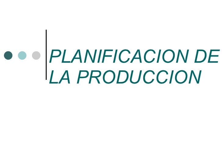 Planificacion Produccion 6