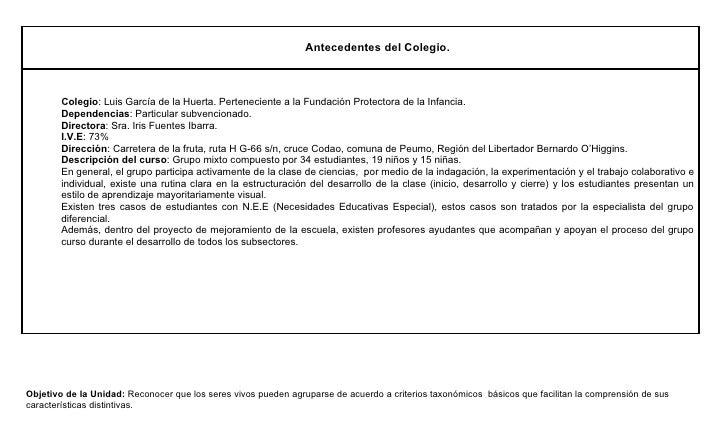 Antecedentes del Colegio.        Colegio: Luis García de la Huerta. Perteneciente a la Fundación Protectora de la Infancia...