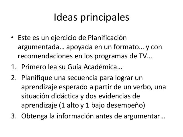 Planificación argumentada Slide 2