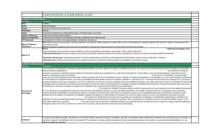 PLANIFICACIÓN DE LA CLASE DIGITAL (CLADI) ELEMENTOS CURRICULARES Descriptor           Descripción Nivel                5° ...