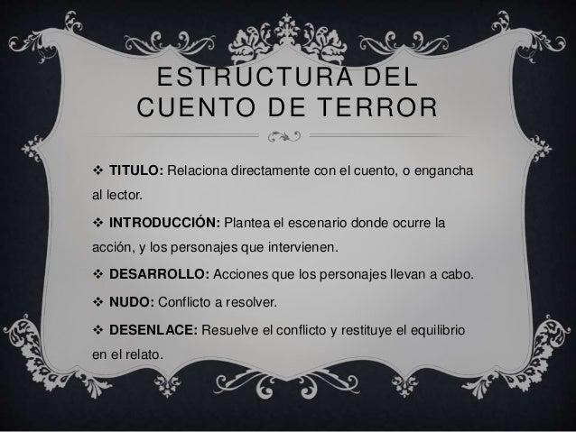 Planificación cuentos de terror