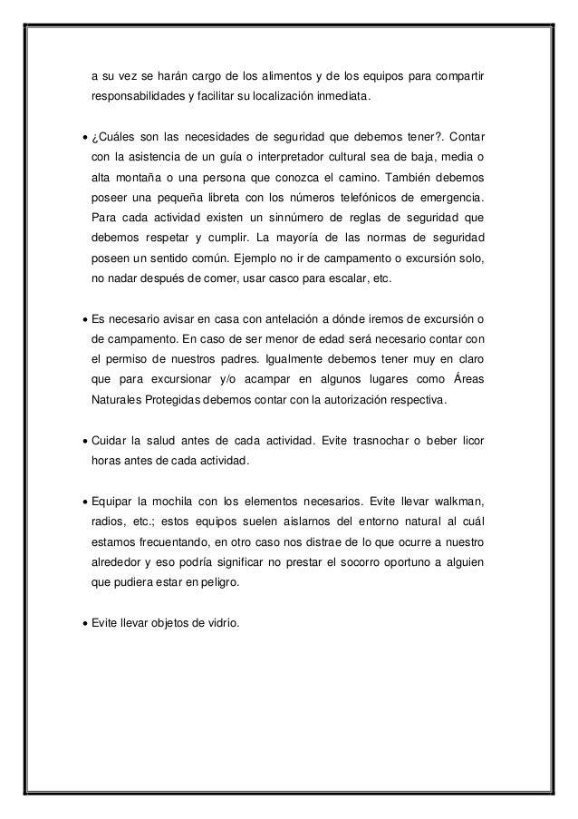PLANIFICACIÓN DEL CAMPAMENTO Slide 2