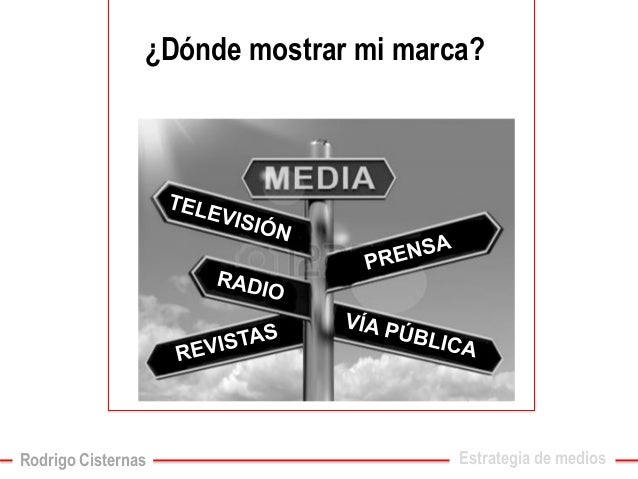 ¿Dónde mostrar mi marca?  Estrategia de medios  Rodrigo Cisternas