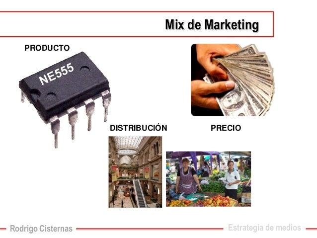 PRODUCTO  DISTRIBUCIÓN  PRECIO  Estrategia de mediosMixde Marketing  Rodrigo Cisternas