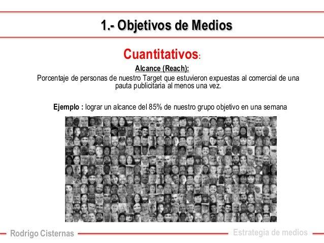Cuantitativos:  Alcance (Reach):  Porcentaje de personas de nuestro Target que estuvieron expuestas al comercial de una pa...