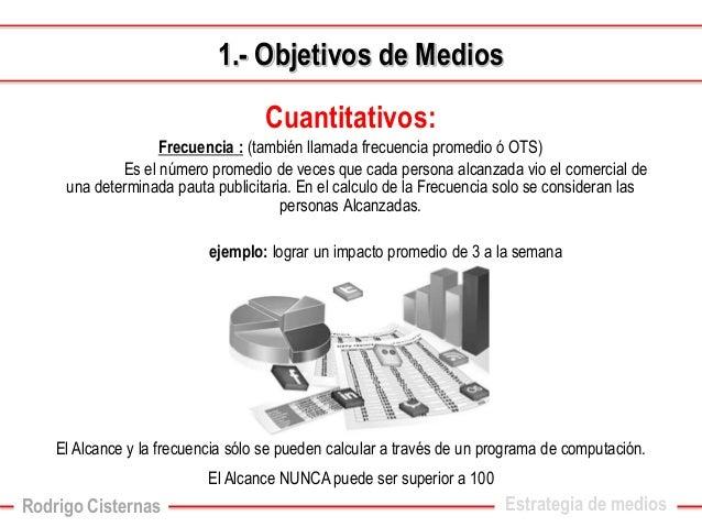 Cuantitativos:  Frecuencia :(también llamada frecuencia promedio ó OTS)  Es el número promedio de veces que cada persona a...
