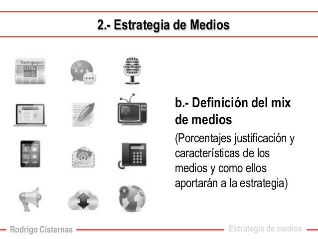 d.-Distribución del presupuesto de medios  Estrategia de medios2.-Estrategia de Medios  Rodrigo Cisternas
