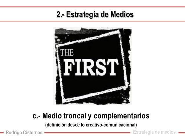 Estrategia de medios  e.-Período y tipo de campaña2.-Estrategia de Medios  Rodrigo Cisternas