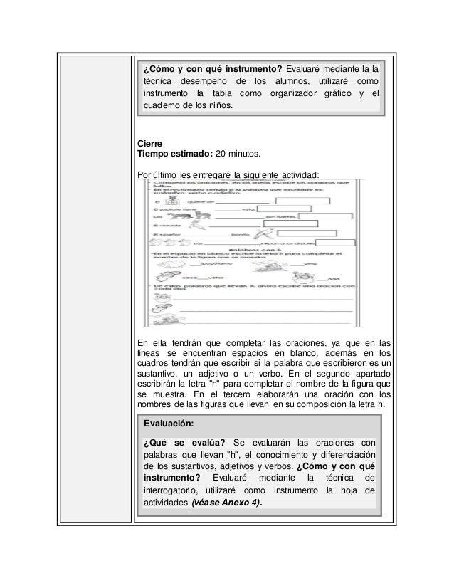 planificación español lección 4 bloque 5