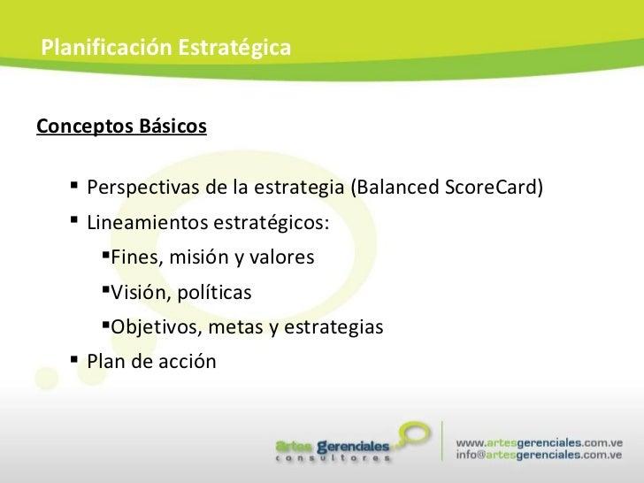 <ul><li>Conceptos Básicos </li></ul><ul><ul><li>Perspectivas de la estrategia (Balanced ScoreCard) </li></ul></ul><ul><ul>...
