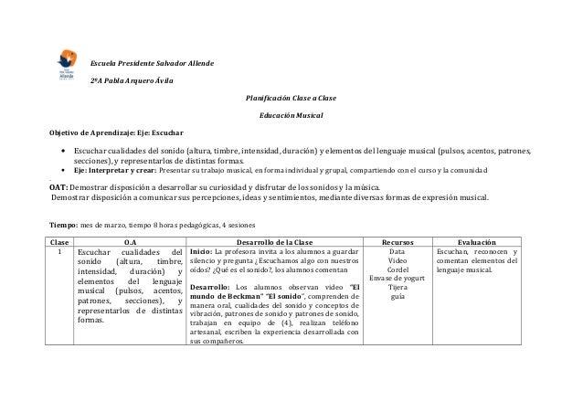 Escuela Presidente Salvador Allende            2ºA Pabla Arquero Ávila                                                    ...