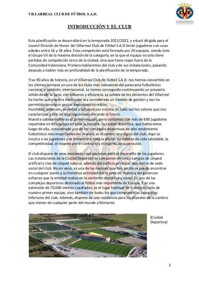 PLANIFICACIÓN DE UNA TEMPORADA. CATEGORÍA JUVENILES. Slide 2