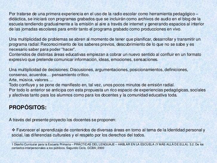 Ejemplos de:                                PROYECTOS ÁULICOS INTEGRADOS                                            VAMOS ...