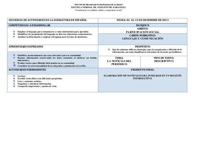 """""""2013 Año Del Bicentenario De Sentimientos De La Nación""""  ESCUELA NORMAL DE ATIZAPÁN DE ZARAGOZA """"Transformar con calidad,..."""
