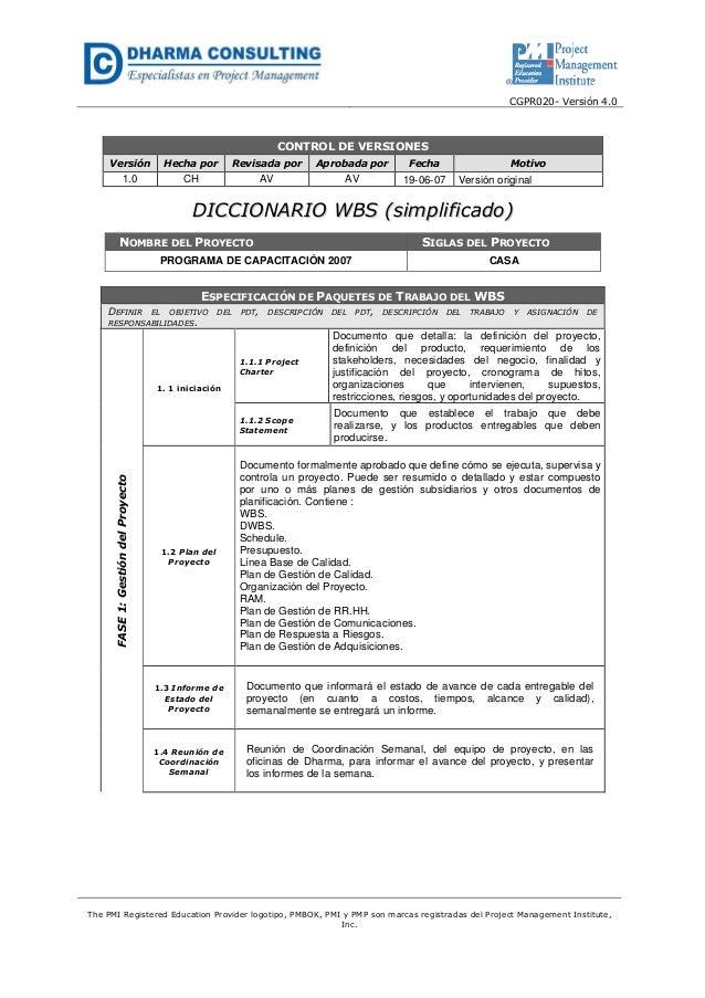 Programa de Capacitación 2007 - Planificación