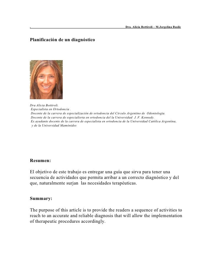 ,                                                                Dra. Alicia Bottiroli – M.Jorgelina BasilePlanificación d...