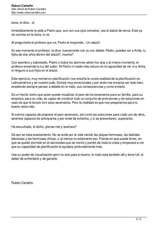 Ruben Cantafio Sitio oficial de Rubén Cantafio http://www.rubencantafio.com boca, le dice... sí. Inmediatamente le pide a ...