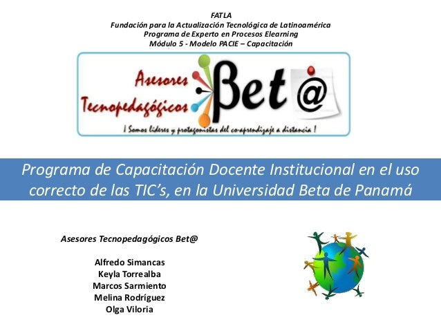FATLA               Fundación para la Actualización Tecnológica de Latinoamérica                       Programa de Experto...