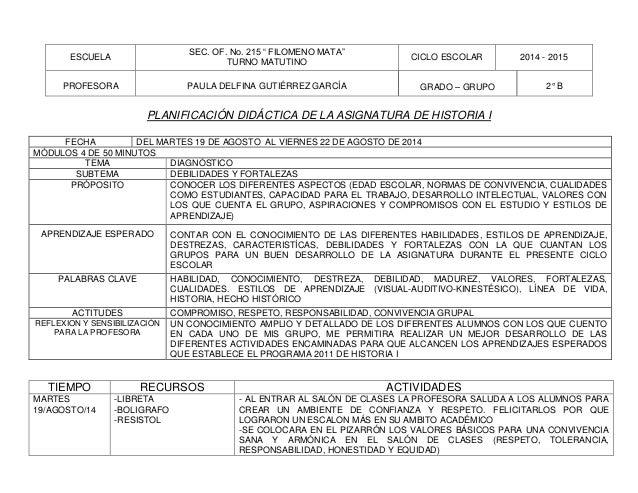 PLANIFICACION DE ENCUADRE DE LAS ASIGNATURAS DE GEOGRAFIA DEMEXICO Y …